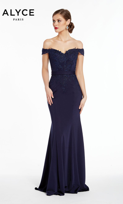 Formal Dress: 27309. Long, Off The Shoulder, Mermaid