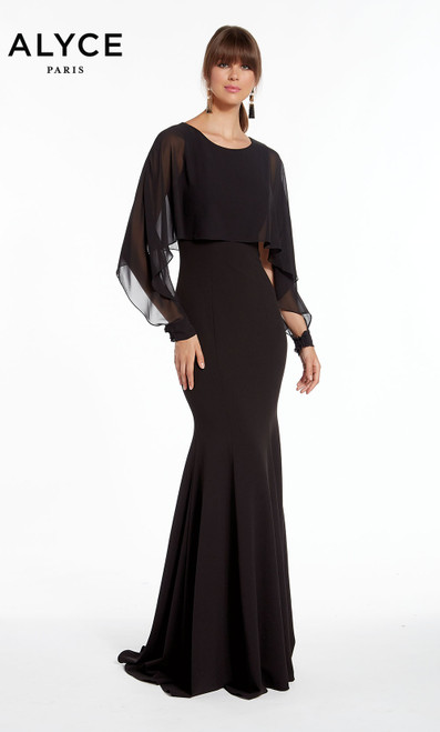 Formal Dress: 27294. Long, Scoop Neck, Mermaid