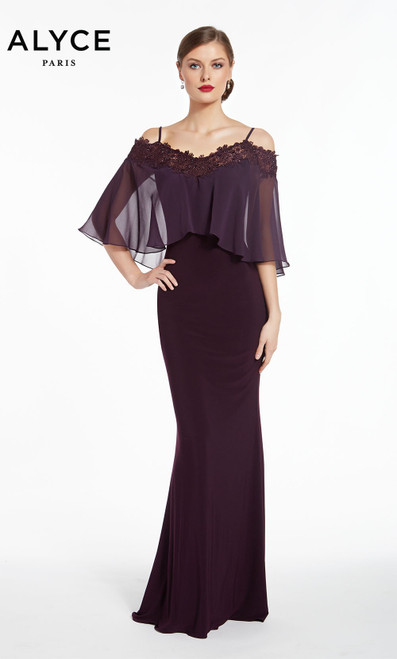 Formal Dress: 27293. Long, Off The Shoulder, Straight