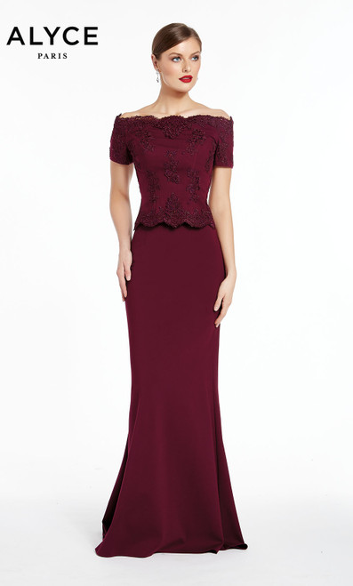 Formal Dress: 27281. Long, Off The Shoulder, Straight