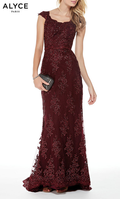 Formal Dress: 27042. Long, Scoop Neck, Straight