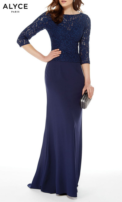 Formal Dress: 27017. Long, Bateau Neckline, Straight