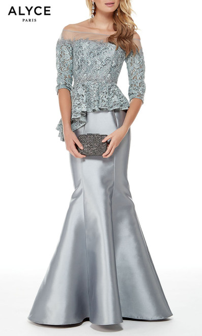 Formal Dress: 27002. Long, Off The Shoulder, Mermaid