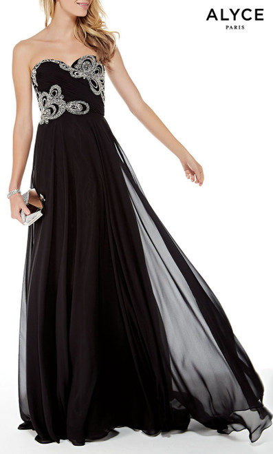 Formal Dress: 5003. Long, Sweetheart Neckline, Flowy