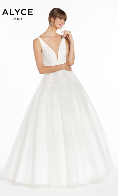 Formal Dress: 7003. Long, Plunging Neckline, Ballgown