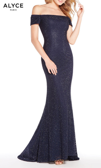 Formal Dress: 60157. Long, Off The Shoulder, Straight