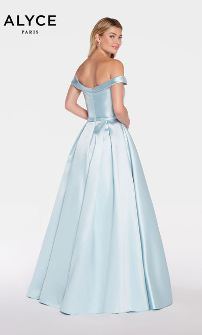 Formal Dress: 60111. Long, Off The Shoulder, Medium Fullness