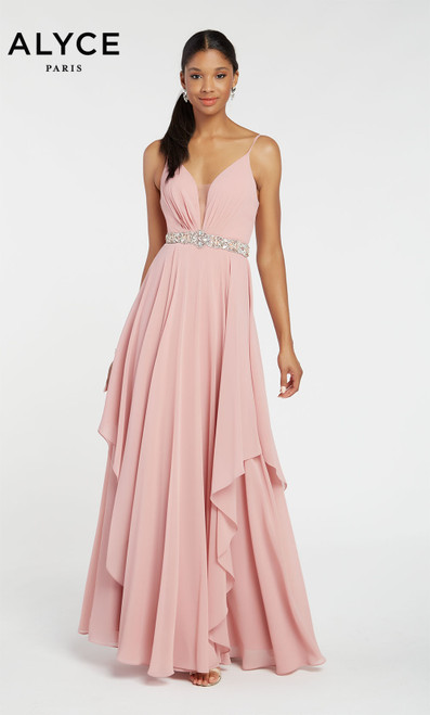 Formal Dress: 60092. Long, Plunging Neckline, Flowy