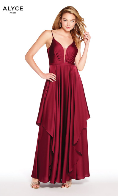 Formal Dress: 60091. Long, Plunging Neckline, Flowy