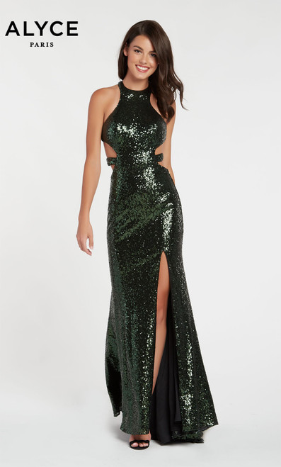 Formal Dress: 60037. Long, Halter, Straight, Strappy Back