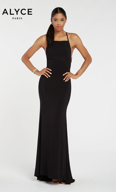 Formal Dress: 60001. Long, Halter, Straight, Strappy Back