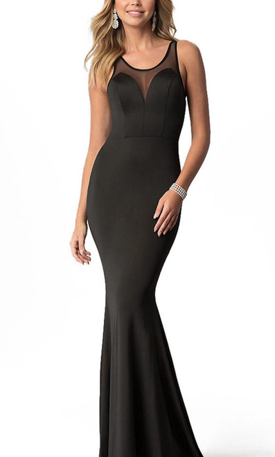 Alyce 22255 long bodycon dress with an illusion sweetheart neckline