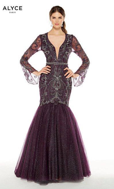 Formal Dress: 5061. Long, Plunging Neckline, Mermaid