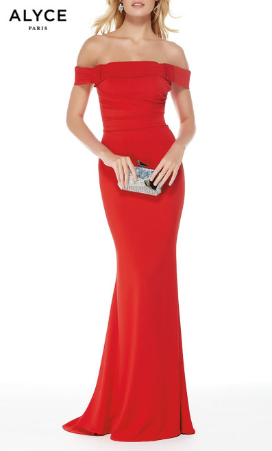 Formal Dress: 5024. Long, Off The Shoulder, Straight