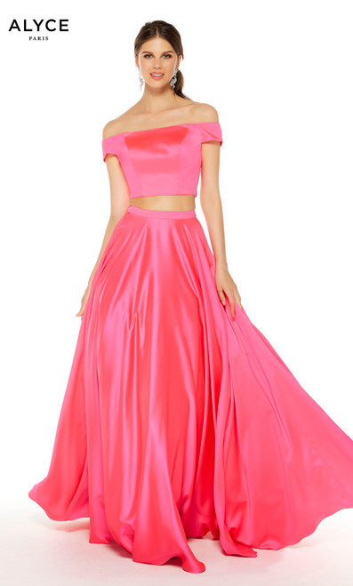 Formal Dress: 1426. Long, Off The Shoulder, Fit N Flare