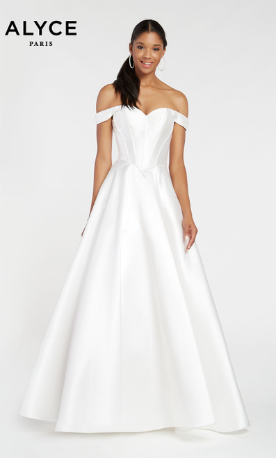 Formal Dress: 1424. Long, V-Neck, Ballgown, V Shaped Back