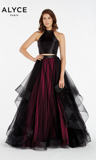 Formal Dress: 1418. Long, V-Neck, Ballgown, V Shaped Back