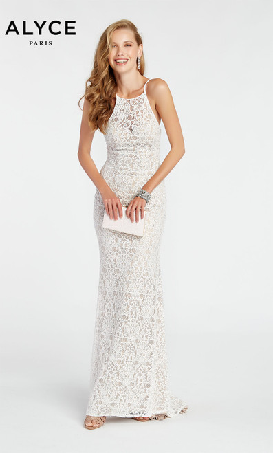 Formal Dress: 1392. Long, V-Neck, Straight, V Shaped Back
