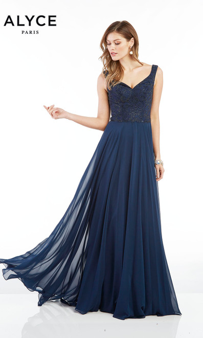 Formal Dress: 1385. Long, Off The Shoulder, Flowy