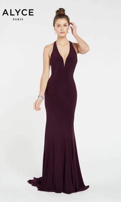 Formal Dress: 1372. Long, Plunging Neckline, Straight