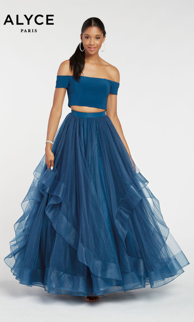Formal Dress: 1295. Long, Off The Shoulder, Ballgown