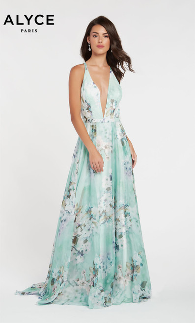 Formal Dress: 60439. Long, Plunging Neckline, Flowy