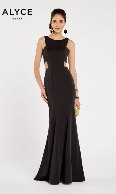 Formal Dress: 60397. Long, Bateau Neckline, Straight