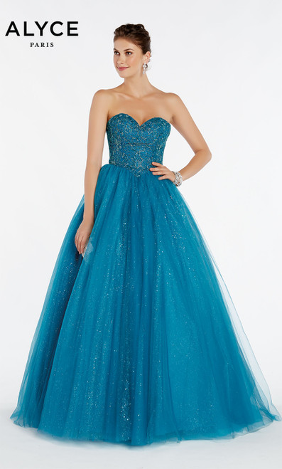 Formal Dress: 60381. Long, Sweetheart Neckline, Ballgown