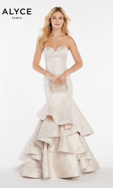 Formal Dress: 60338. Long, Sweetheart Neckline, Mermaid