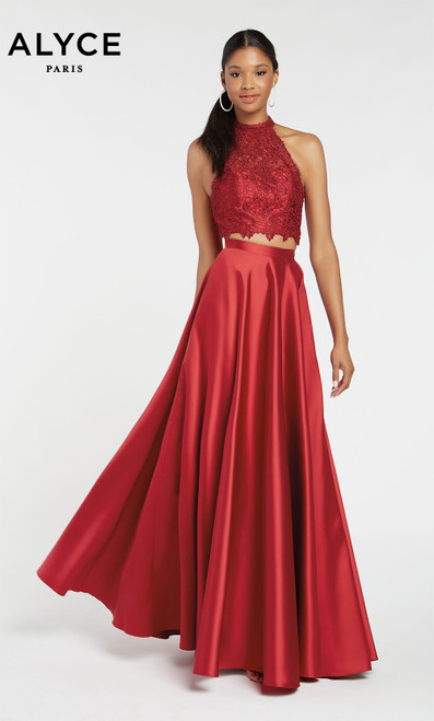 Formal Dress: 60329. Long, V-Neck, Medium Fullness