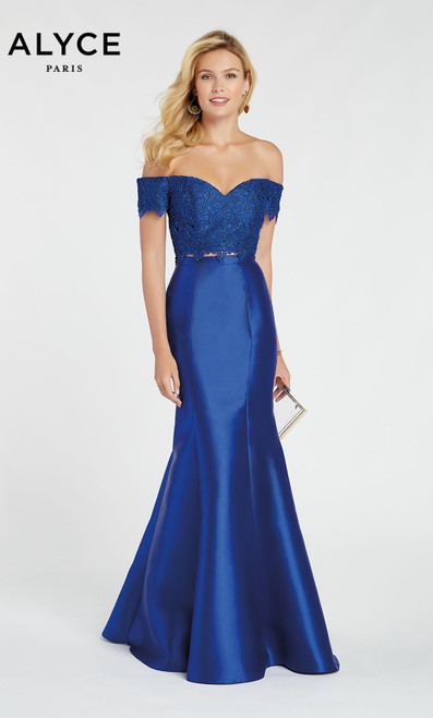 Formal Dress: 60328. Long, Off The Shoulder, Mermaid