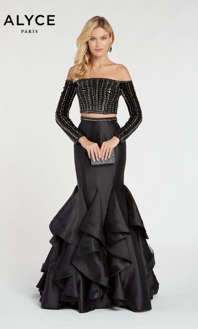 Formal Dress: 60309. Long, Off The Shoulder, Mermaid