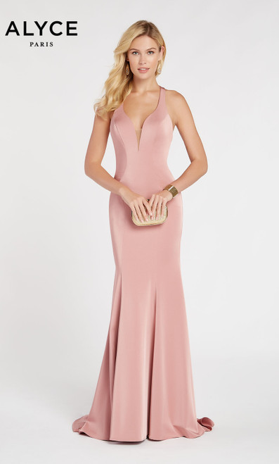Formal Dress: 60281. Long, Halter, Straight, Strappy Back