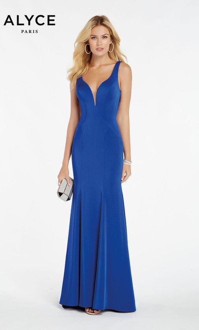 Formal Dress: 60280. Long, Plunging Neckline, Straight