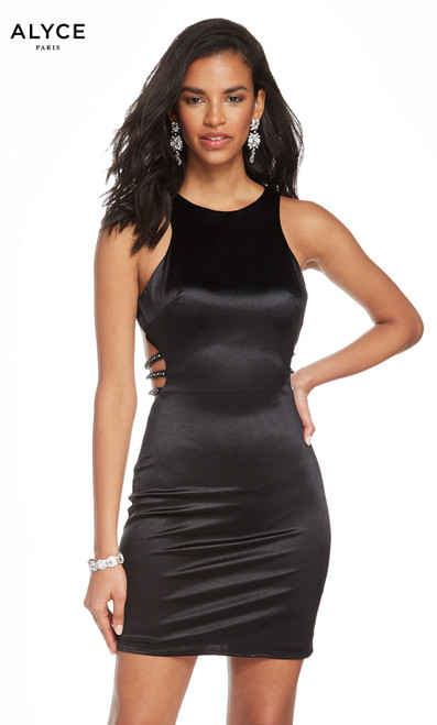 Formal Dress: 4084. Short, Scoop Neck, Straight