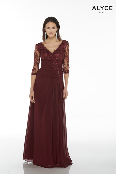 Formal Dress: 29364. Long, V-Neck, Flowy, V Shaped Back