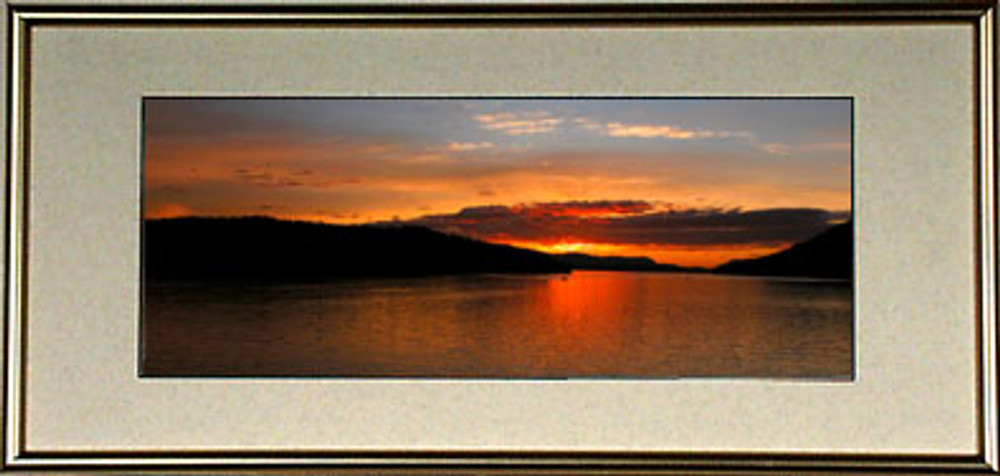 7x15 Panoramic Frame Package Complete With Frame Glass And