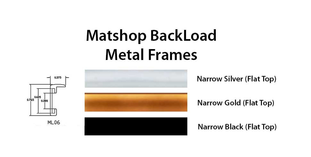 Flat top Backload profile colors