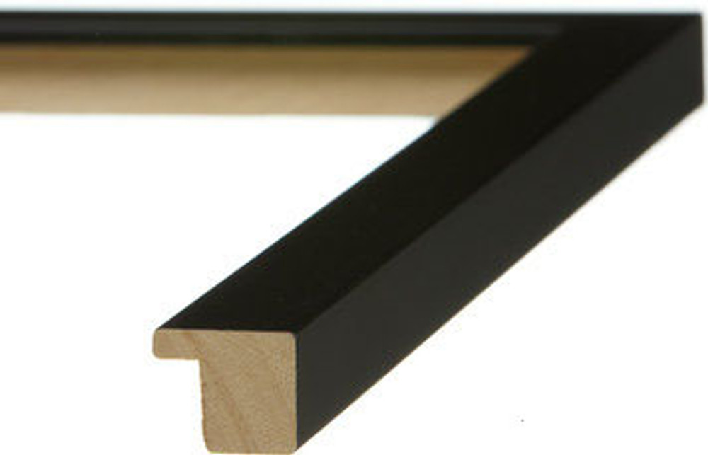 "3/4"" Black Flat Wood Frame (# MS 500)"