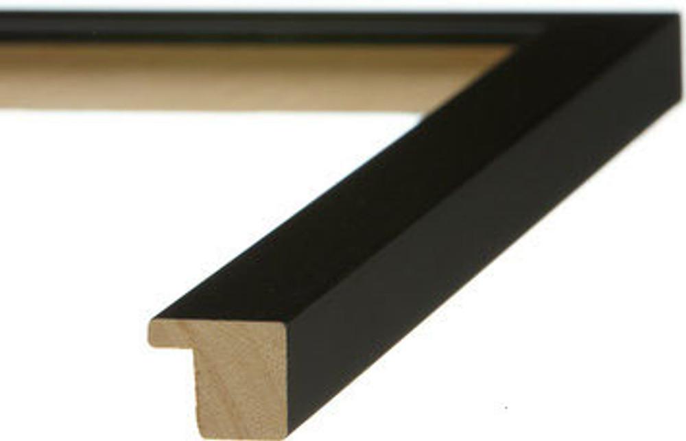 "3/4"" Black Flat Wood Frame (# MS 500)"