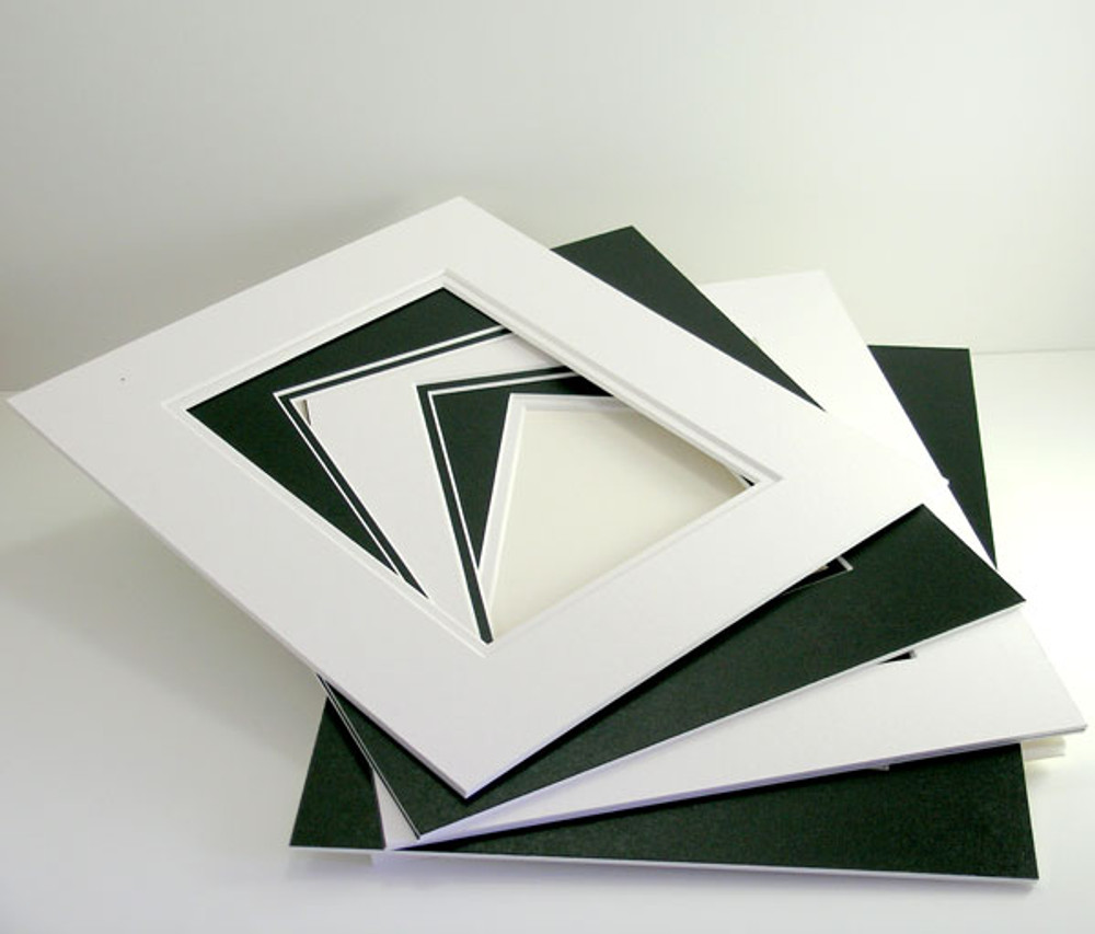 "16x20 Double 25 Pack (Conservation) - includes mats, 1/8"" Acid-Free Foamcore backing, sleeves and tape!"