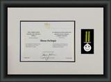 Sample of certificate and Medal Framed