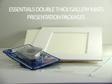 "11 x 14  Essentials Double Thick Mats - includes 25 sets of mats, 1/8"" Regular Foam core backing, sleeves and tape!"