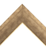 "2 1/2"" Bronze Gold Synthetic Wood Frame (#8351)"