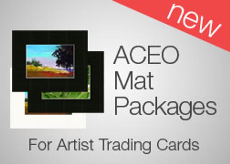 8 x 10 ATC (ACEO) Mat Packs (25)