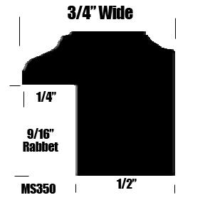 3/4 Black Wood Frame