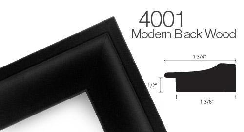 401 Black Wood Frame
