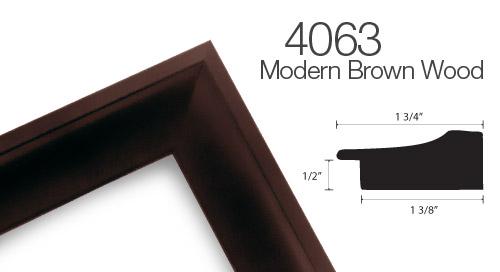 4063 Brown Wood Frame
