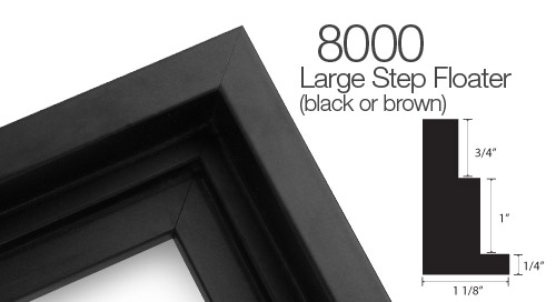 Black Wood Canvas Floater Frame