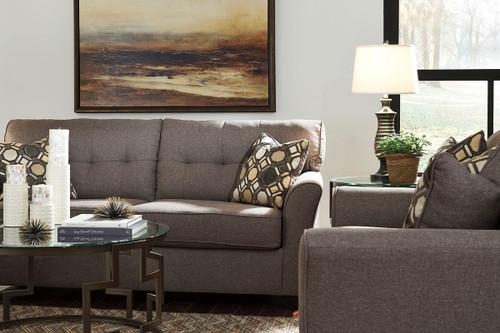 Strange The Tibbee Slate Sofa Loveseat Frostine Table Set Bralicious Painted Fabric Chair Ideas Braliciousco